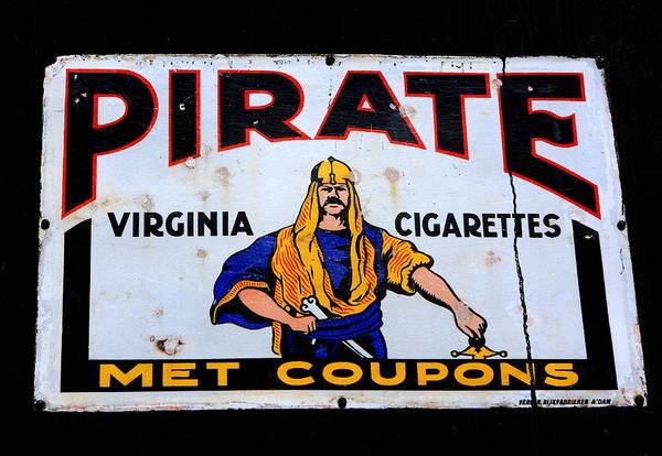 Photograph - Pirate Virginia Cigarette Sign by Aidan Moran