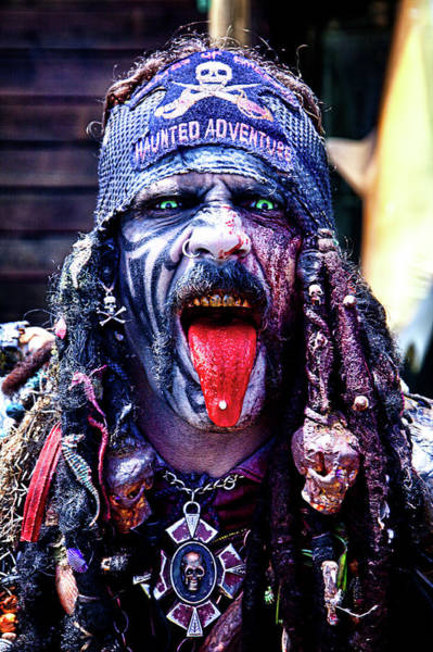 Wall Art - Photograph - Pirate With Red Tongue by Garry Gay