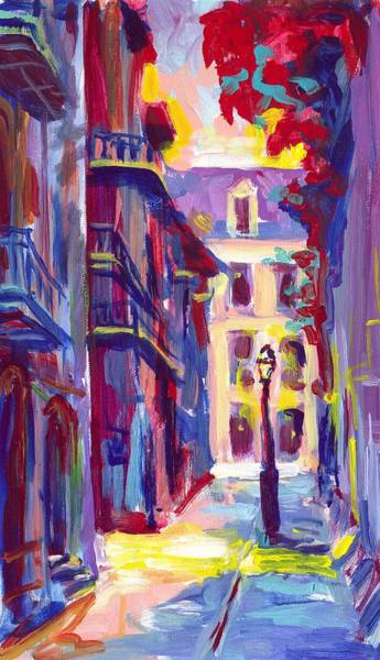Wall Art - Painting - Pirates Alley New Orleans by Saundra Bolen Samuel