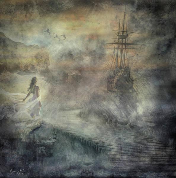 Digital Art - Pirates Cove by Barbara A Lane