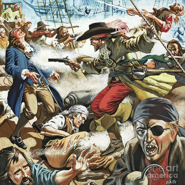 Wall Art - Painting - Pirates by Mike White