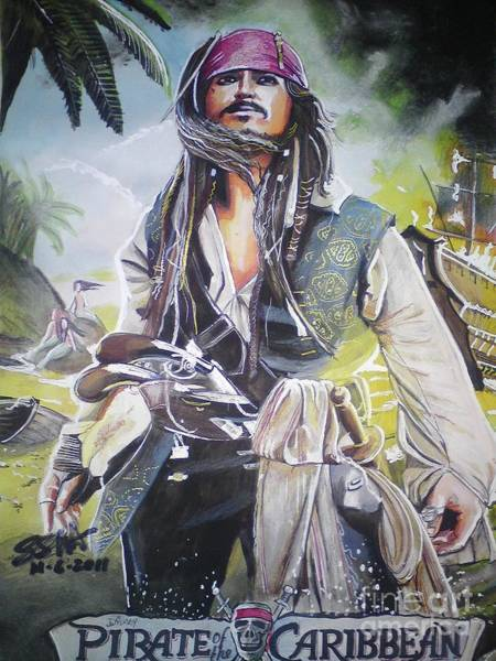 Steven Spielberg Painting - Pirates Of The Caribbean On Strangers Tides by San Art Studio