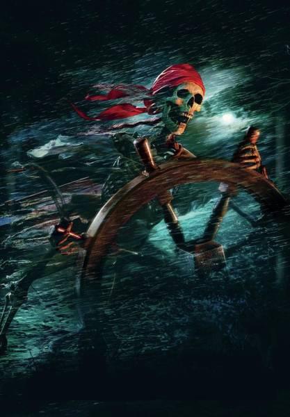 Pirates Of The Caribbean Digital Art - Pirates Of The Caribbean The Curse Of The Black Pearl 2003 by Geek N Rock