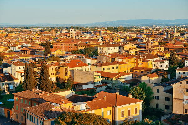 Photograph - Pisa Italy Rooftop View by Songquan Deng