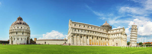Square Tower Photograph - Pisa Panorama by Delphimages Photo Creations