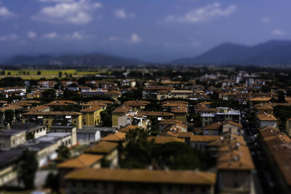 Photograph - Pisa Rooftops by Chris Coffee