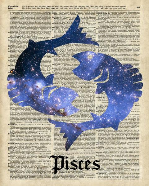 Wall Art - Digital Art - Pisces  The Fish  Zodiac Sign by Anna W