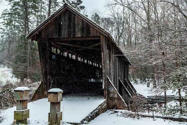 Photograph - Pisgah Covered Bridge - Modern by Matthew Irvin