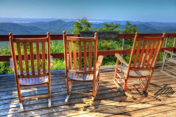 Photograph - Pisgah Inn Rocking Chairs by Carol Montoya