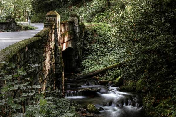 Photograph - Pisgah National Forest Grace And Style Of The Stone Bridge  by Carol Montoya