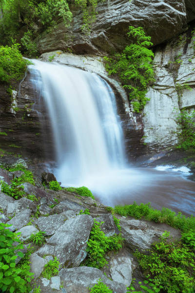Photograph - Pisgah National Forest Looking Glass Waterfall After Rain by Ranjay Mitra