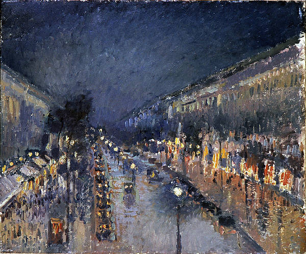 Photograph - Pissarro: Paris At Night by Granger