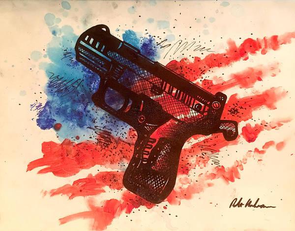 Wall Art - Painting - Pistol Art by Robert Korhonen