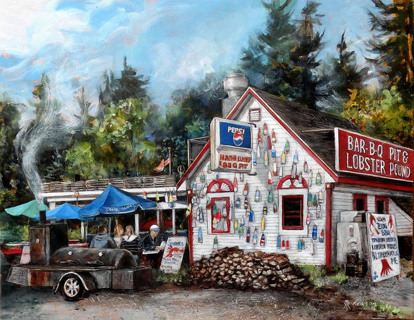 Bbq Painting - Pit And Pound by Rick Reason