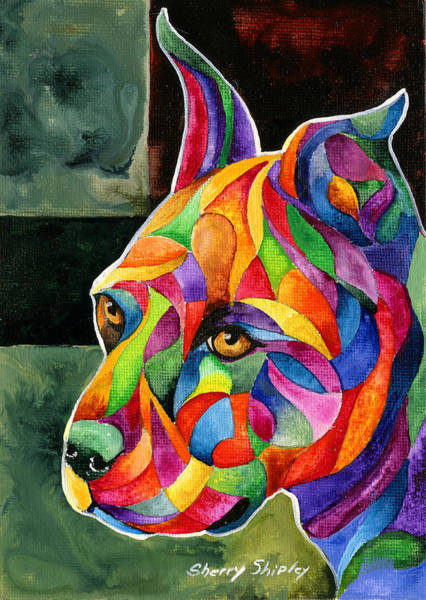 Painting - Pit Bull 2 by Sherry Shipley