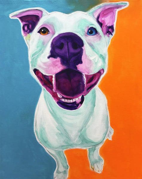 Wall Art - Painting - Pit Bull - Angel by Alicia VanNoy Call