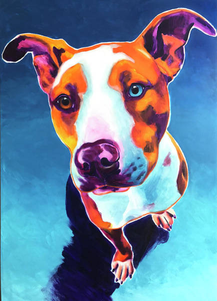 Wall Art - Painting - Pit Bull - Bentley by Alicia VanNoy Call
