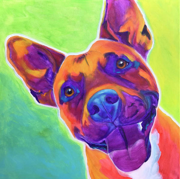 Wall Art - Painting - Pit Bull - Billy by Alicia VanNoy Call