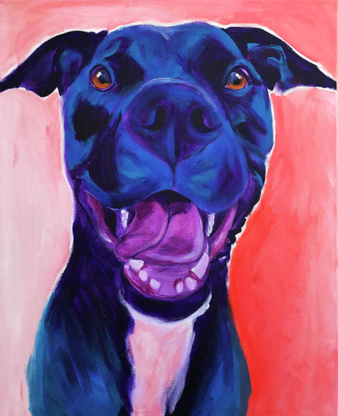 Wall Art - Painting - Pit Bull - Chrysanthemum by Alicia VanNoy Call