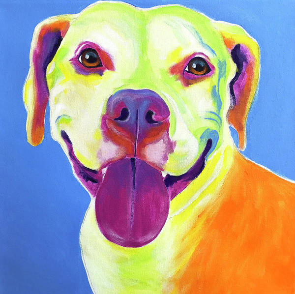 Wall Art - Painting - Pit Bull - Daisy by Alicia VanNoy Call
