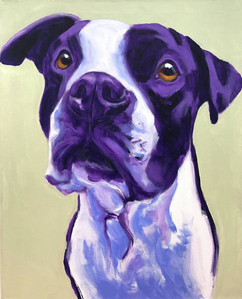 Wall Art - Painting - Pit Bull - David by Alicia VanNoy Call