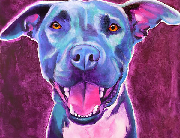 Wall Art - Painting - Pit Bull - Ears by Alicia VanNoy Call