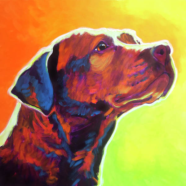 Wall Art - Painting - Pit Bull - Fuji by Alicia VanNoy Call