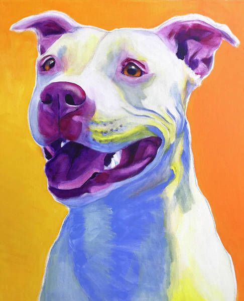 Wall Art - Painting - Pit Bull - Honey by Alicia VanNoy Call