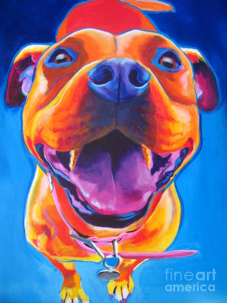 Pitbull Painting - Pit Bull - Lots To Love by Alicia VanNoy Call