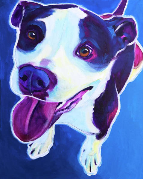 Wall Art - Painting - Pit Bull - Marchant by Alicia VanNoy Call