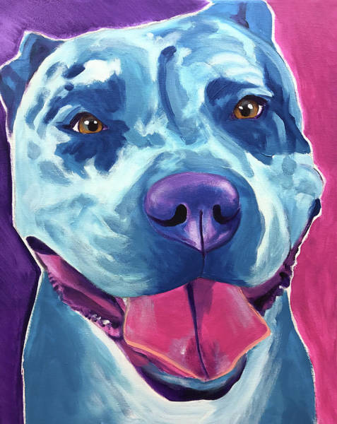 Wall Art - Painting - Pit Bull - Merle by Alicia VanNoy Call