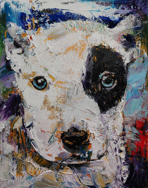 Hund Wall Art - Painting - Pit Bull Puppy by Michael Creese