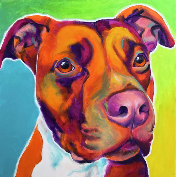 Wall Art - Painting - Pit Bull - Red by Alicia VanNoy Call