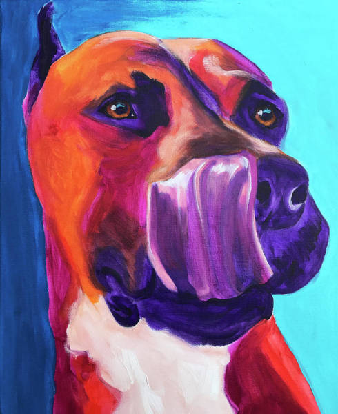 Wall Art - Painting - Pit Bull - Taste by Alicia VanNoy Call
