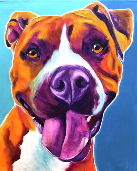 Wall Art - Painting - Pit Bull - Yummy by Alicia VanNoy Call