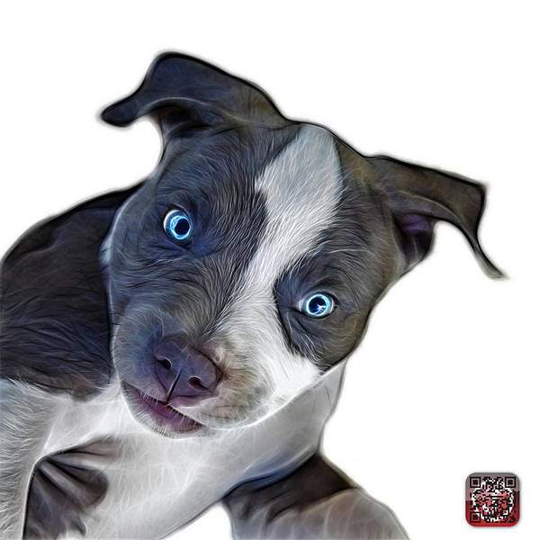 Painting - Pitbull Dog Art 7435 - Wb by James Ahn