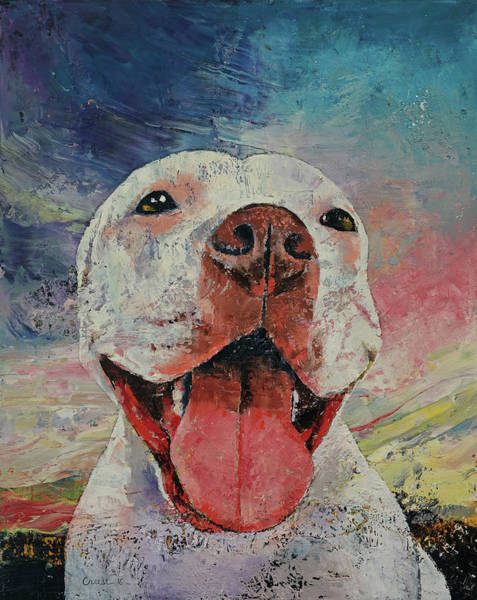 Hund Wall Art - Painting - Pitbull by Michael Creese