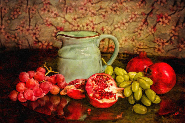 Painting - Pitcher Surrounded By Fruit by Dean Wittle
