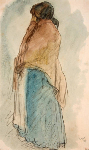 Pitchers Drawing - Pitcher Woman by Isidre Nonell