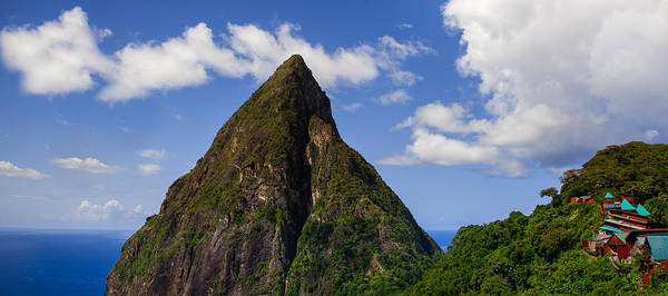 Saint Lucia Photograph - Piton And Ladera by Karen Wiles