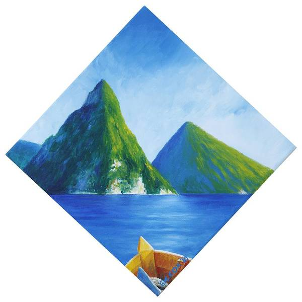 Painting - Pitons by Christopher Cox