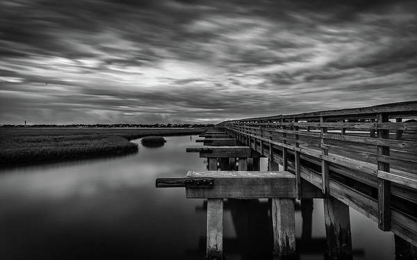 Photograph - Pitt Street Bridge Black And White by Donnie Whitaker