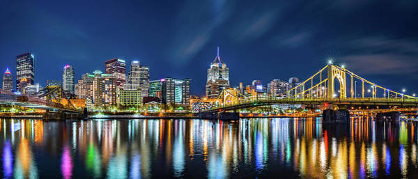 Photograph - Pittsburgh By Night by Mihai Andritoiu