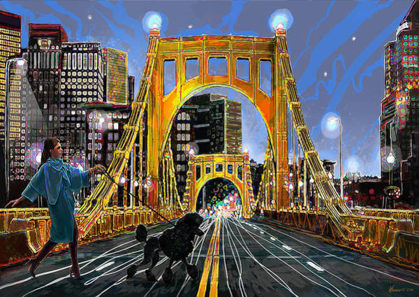 Poodle Digital Art - Pittsburgh Chic by Frank Harris