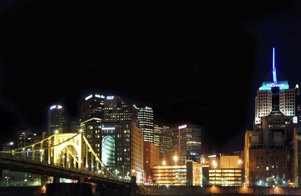 Wall Art - Photograph - Pittsburgh City At Night by Art Spectrum