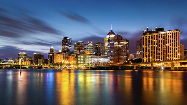 Photograph - Pittsburgh Downtown Skyline At Dawn by Mihai Andritoiu