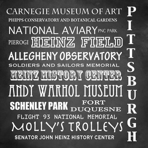 Pittsburgh Famous Landmarks Art Print
