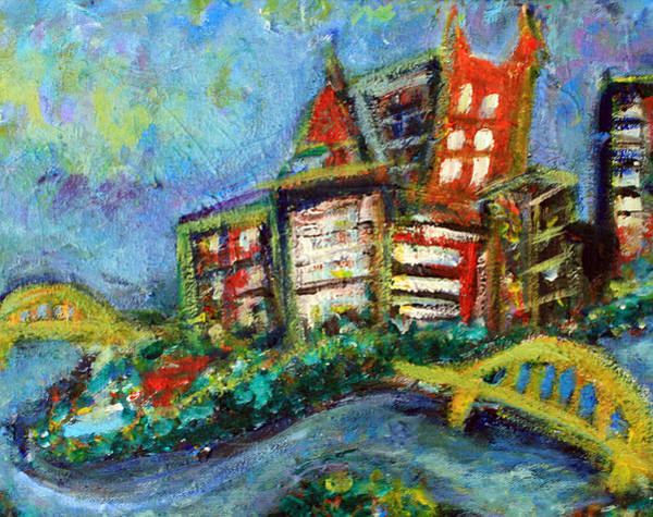 Wall Art - Painting - Pittsburgh  by Jason Gluskin