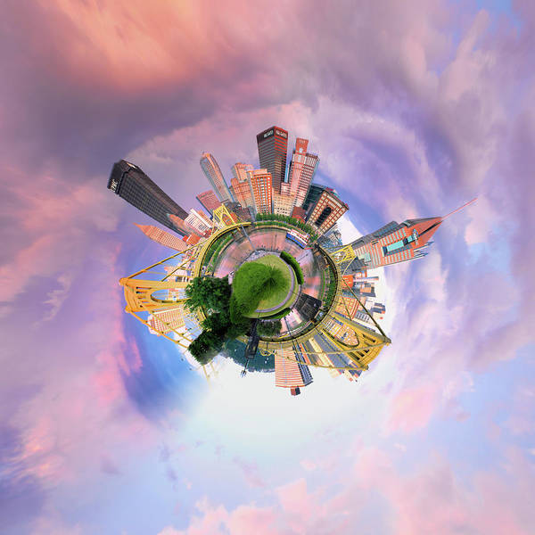 Photograph - Pittsburgh Little Planet 10  by Emmanuel Panagiotakis