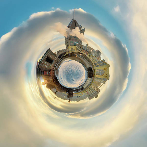 Photograph - Pittsburgh Little Planet 3  by Emmanuel Panagiotakis